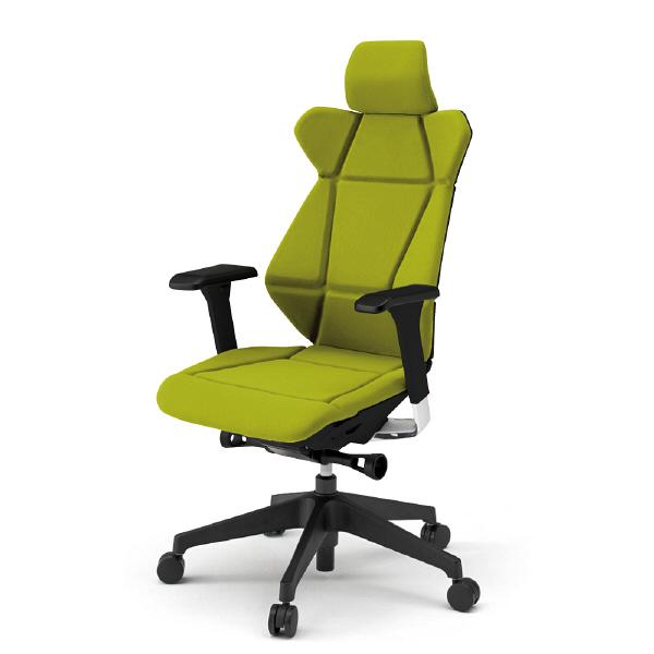 """""""折り紙""""の発想から生まれた新感覚チェア。 姿勢に応じて3次元に動く背が、集中力とリフレッシュをサポートします。"""