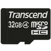 トランセンド 32GB micro SDHC Card (Class 4、NoBox & Adapter) TS32GUSDC4 1個(直送品)