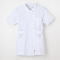 ナガイレーベン 女子チュニック ナースジャケット 医療白衣 半袖 ホワイト M TS-2077 (取寄品)