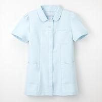 ナガイレーベン 女子上衣 ナースジャケット 医療白衣 半袖 ブルー L CF-4802 (取寄品)