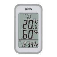 タニタ デジタル温湿度計 グレー TT559GY