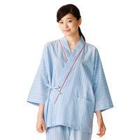KAZEN 患者衣(甚平型) 検査着 検診衣 男女兼用 L 285-98 (直送品)