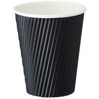 リップルカップ ブラック 9オンス 1箱(1500個:50個入×30袋)ファーストレイト 紙コップ