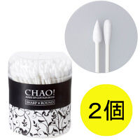 CHAO!メイク綿棒 130本入 1セット(2個) 山洋