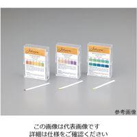 アズワン pH試験紙 PP(ポリプロピレン)スティックタイプ 005.3 1箱(100枚) 1-1746-04 (直送品)