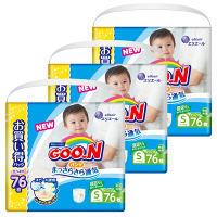 <ロハコ> GOO.N(グーン) パンツ Sサイズ(5〜9kg) 1ケース228枚(76枚×3パック) やわらかパンツ 大王製紙