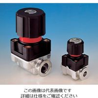 エドワーズ ダイヤフラムバルブ手動式 NW10 SP10K(ニトリル) 1個 1-3059-01 (直送品)