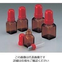 マルエム スポイド瓶(角型ガラス製) 60mL 褐色 1本 5-135-04 (直送品)