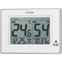 リズム時計 シチズン高精度置掛兼用温湿度計 白 8RD200-A03