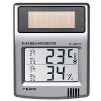 佐藤計量器製作所 ソーラーデジタル温湿度計 PC-5200TRH 1本 (直送品)