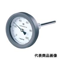 佐藤計量器製作所 バイメタル温度計 BM-T-75P (0/100℃、 L=150mm、 R(PT) 1/2) 1個 (直送品)