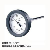 佐藤計量器製作所 バイメタル温度計 BM-T-75P (0/200℃、 L=100mm、 R(PT) 1/2) 1個 (直送品)