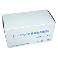 佐藤計量器製作所 オーロラ90II、III型長期巻温湿度記録計用記録紙 3ヶ月 4巻 1セット (直送品)