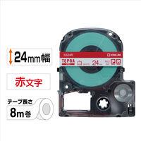 キングジム テプラ PROテープ 24mm 白ラベル(赤文字) 1個 SS24R