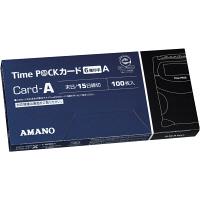アマノ タイムカード TimeP@Ckカード(6欄印字)A 〔月末・15日締〕 1箱(100枚入)