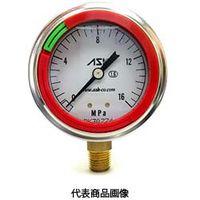 エイエスケイ(ASK) カラーリング付グリセリン圧力計 OPG-AT-R1/4-60×1MPa-CR  (直送品)