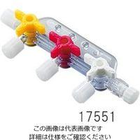 富士システムズ ルアーストップコックマニフォールド メスルアー4個・オスルアーロック1個 17551 1個 3-6164-01 (直送品)