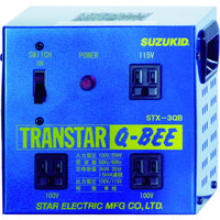 スター電器製造 SUZUKID 変圧器 トランスターQBEE 昇圧・降圧兼用 STX-3QB 1台 818-6012 (直送品)