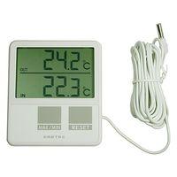 ドリテック(DRETEC) 室内室外温度計 O-215WT ー5〜50℃ 1個 61-3523-05 (直送品)