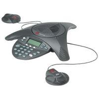 Polycom 2200-16200-002 PPSSー2/電話会議システム<SoundStat ion2EX>(拡張マイク用コネクタX2付) (直送品)