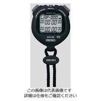 セイコークロック(Seiko Clock) デジタルストップウォッチ(ソーラー充電型) ブラック SVAJ001 1台 2-9869-01 (直送品)