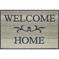 wash+dry薄型で丈夫な洗える玄関マット Welcome Home beige 50×75cm A003A 1枚 クリーンテックス・ジャパン (直送品)