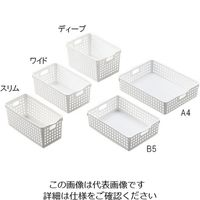 イノマタ化学 整理バスケット 213×302×87mm B5 1セット(6個) 1-2150-03 (直送品)