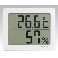 ドリテック(DRETEC) デジタル温湿度計 ホワイト O-226WT 1セット(2個) 8-1493-01 (直送品)