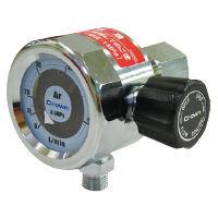 ユタカ 中流量用円形流量計(バルブ内蔵) アルゴン用 DN-30L-Ar-V 1個 (直送品)