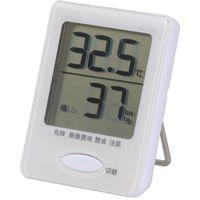 オーム電機 健康サポート機能付き デジタル温湿度計 インフルエンザ 熱中症対策 温度計 湿度計 HB-T03-W (直送品)