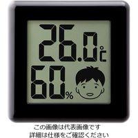 ドリテック(DRETEC) デジタル温湿度計 ピッコラ ブラック O-282BK 1個 62-8553-20 (直送品)