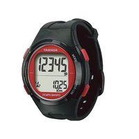 山佐時計計器(YAMASA) ウォッチ万歩計 ブラック/レッド TM-500(B/R) 1個 3-9505-02 (直送品)