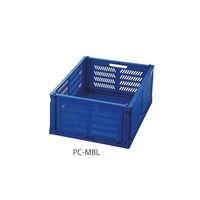 アズワン 折りたたみコンテナ(コンパクト) ブルー PC-MBL 1個 4-760-04 (直送品)