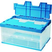 積水テクノ成型(セキスイテクノ) 積水 OC-75L フタ一体型 透明ブルー 75LFSCB 1個 114-3432 (直送品)
