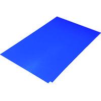 トラスコ中山(TRUSCO) TRUSCO 粘着クリーンマット 450×900MM ブルー 1シート 30枚入 CM4590-1B 116-0760 (直送品)