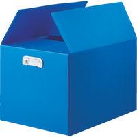 TRUSCO ダンボールプラスチックケース 5枚セット B3サイズ 取っ手穴なし ブルー TDP-B3D-5B 114-5741 (直送品)