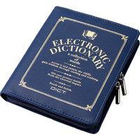 エレコム 電子辞書ケース/フルカバータイプ/デザイン/Lサイズ/ブルー DJC-021LBU 1個 (直送品)