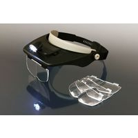 富士パックス販売 LEDライト付・ヘッドルーペ FP-179 (直送品)
