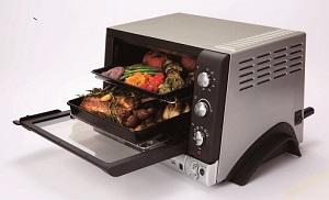 庫内容量20Lの大容量オーブン