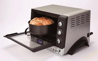 オーブン機能から、レバー1つでパン機能に簡単に切り換えできます