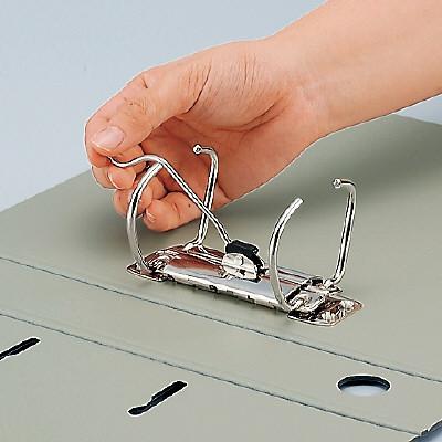 開けるときはレバーを倒すだけ!もうリングに指を挟まない。