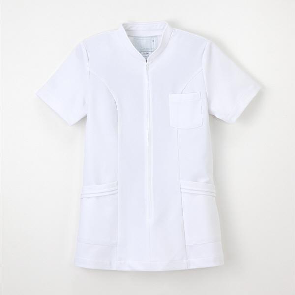 a844183435e ナガイレーベン 看護衣上衣半袖 ナースジャケット 医療白衣 女性用 ホワイト M TS-