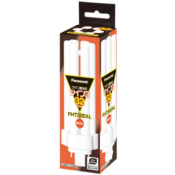 パナソニック ツイン3蛍光灯 32W形 電球色 FHT32EX-L 1箱(10個入)