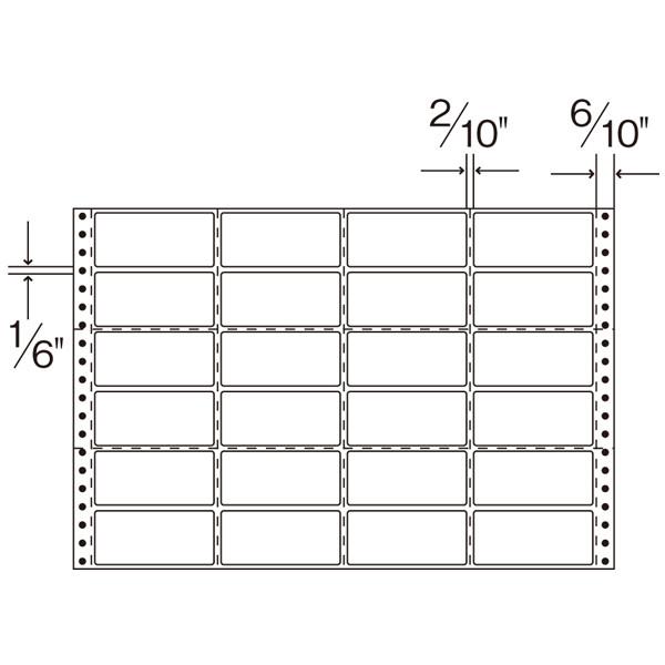 ダイオープリンティング タックフォームラベル 15×10インチ  1箱(500シート入)