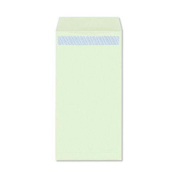 透けない封筒 長3 テープ付 緑100枚