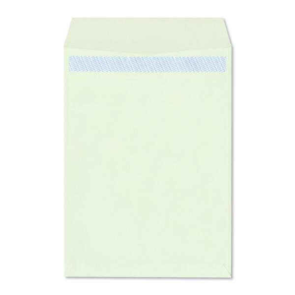 透けない封筒 角2 テープ付 緑100枚