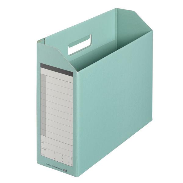 プラス ボックスファイル A4ヨコ 背幅100mm グリーン 87530