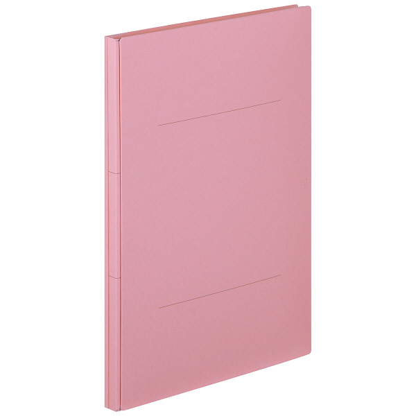 アスクル 背幅伸縮ファイル(PPラミネート表紙) A4タテ ピンク 50冊