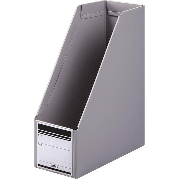 ボックスファイル組み立て式 A4タテ 10冊 PP製 グレー セリオ