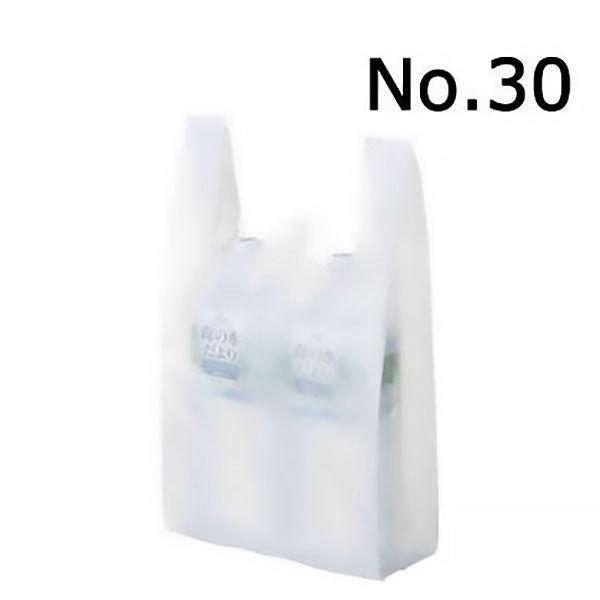 レジ袋 乳白 30号 100枚